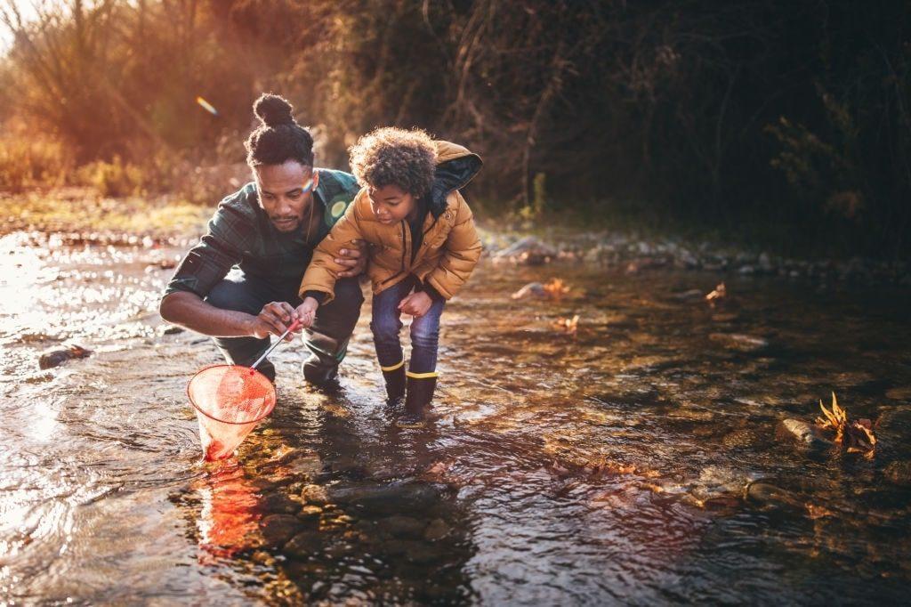 roupa de pesca infantil