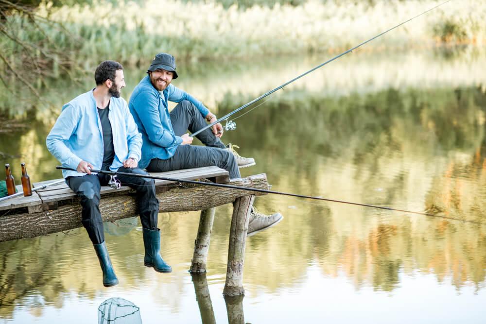 pescaria no inverno