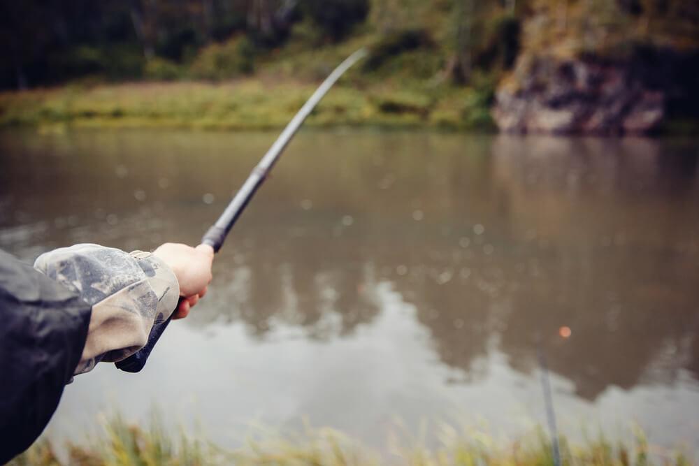 pescaria na chuva