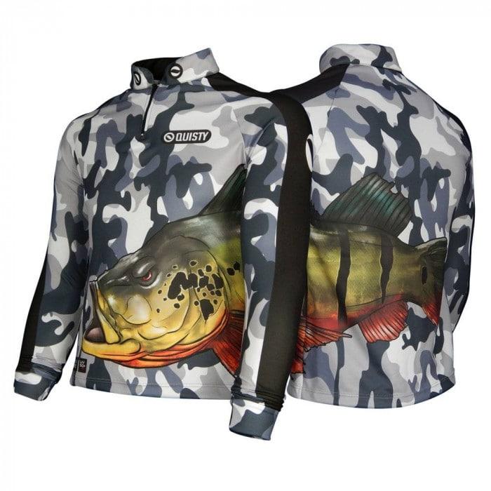camisa de pesca estampada
