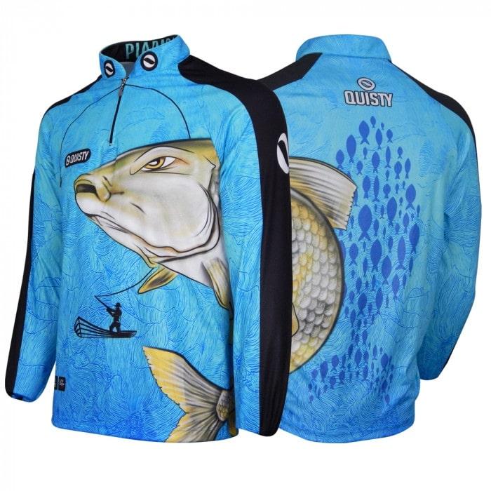 camisa de pesca infantil