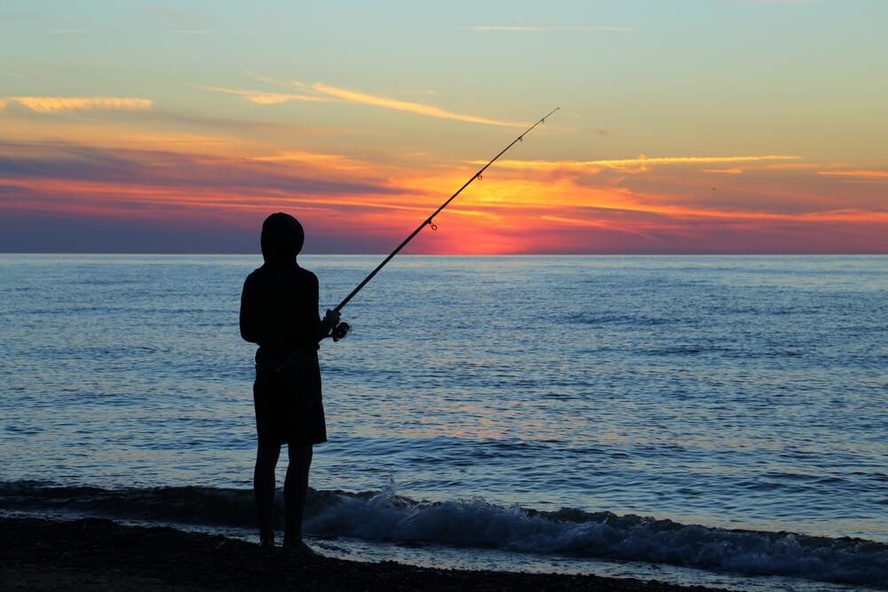 peixes de água salgada vara de pesca