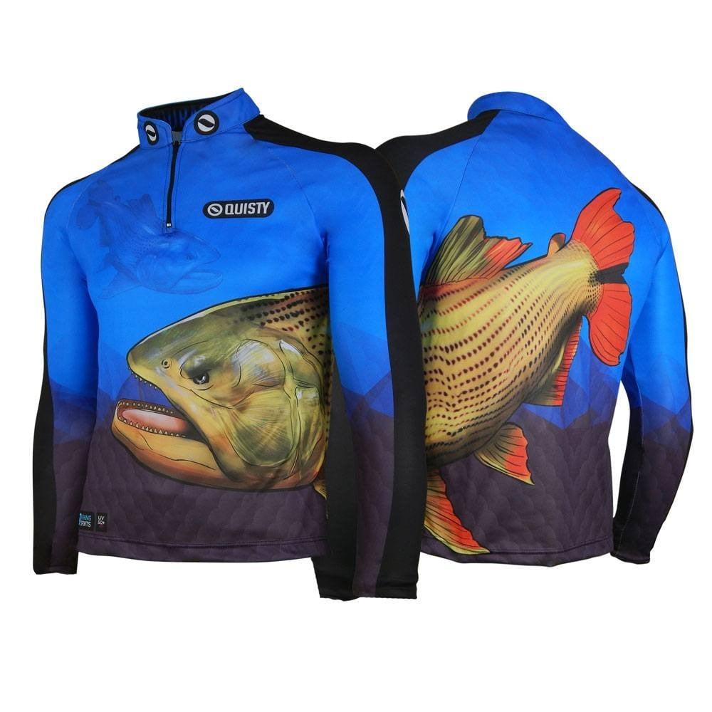 modelos de camisa de pesca pro elite dourado do rio