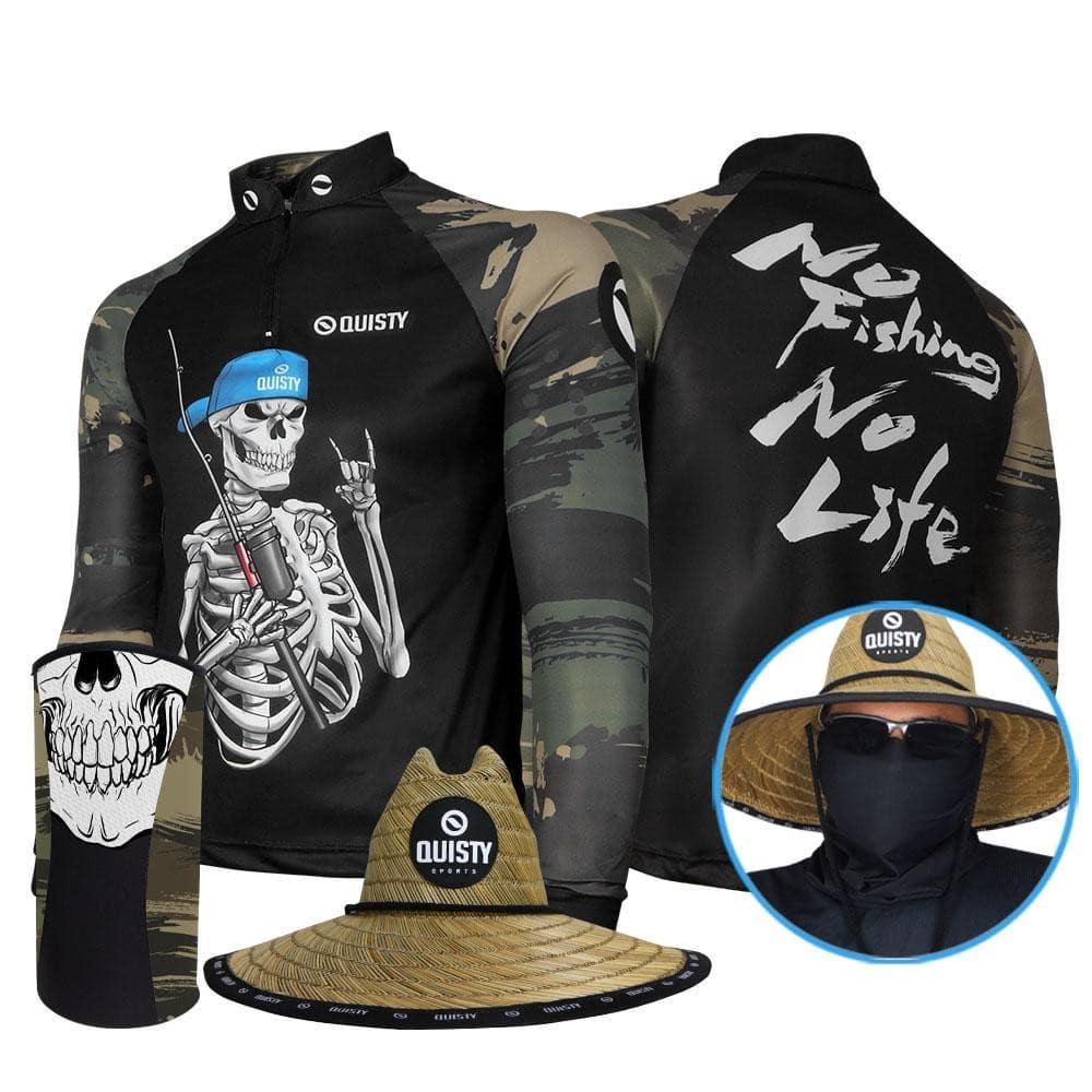 kit camisa de pesca
