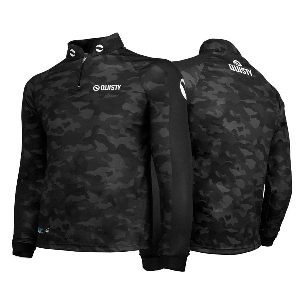 camisa de pesca plus size Camisa Pro Elite Army Black