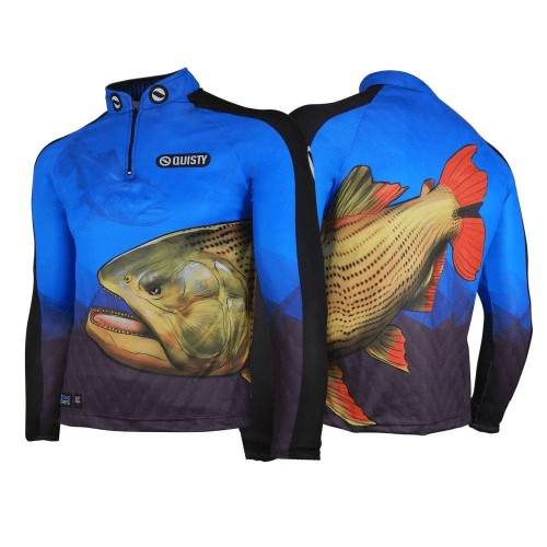 camisa de pesca plus size Camisa Pro Elite Dourado Rei do Rio