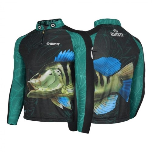 camisa de pesca plus size Camisa Pro Elite Tucunaré Azul