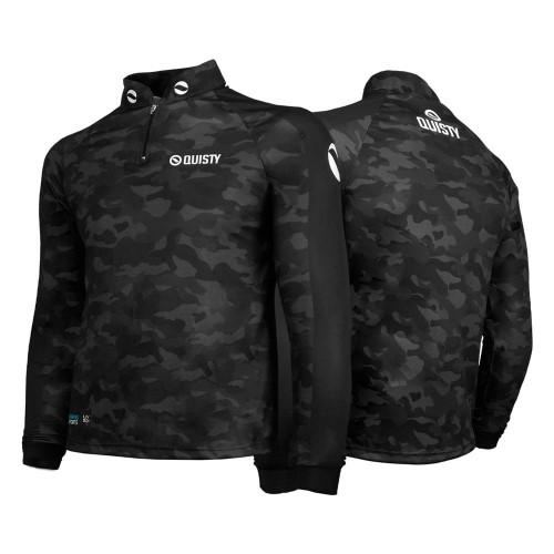 camisa de pesca preta Camisa Pro Elite Army Black