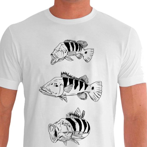 presente para pai pescador camiseta