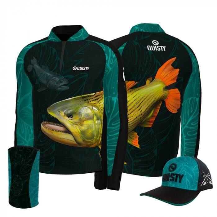 camisa de pesca manga longa Bonus Super Combos Quisty