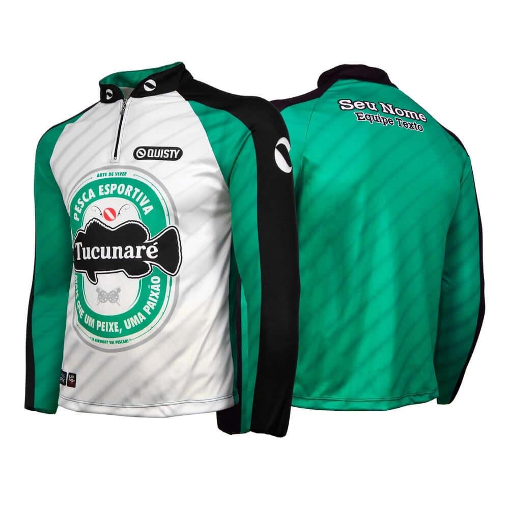 camisa de pesca manga longa Camisa Premium Pro Elite Tucuna Beer