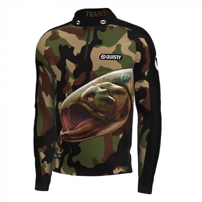 camisa de pesca manga longa Camisa Pro Elite Army Pantanal