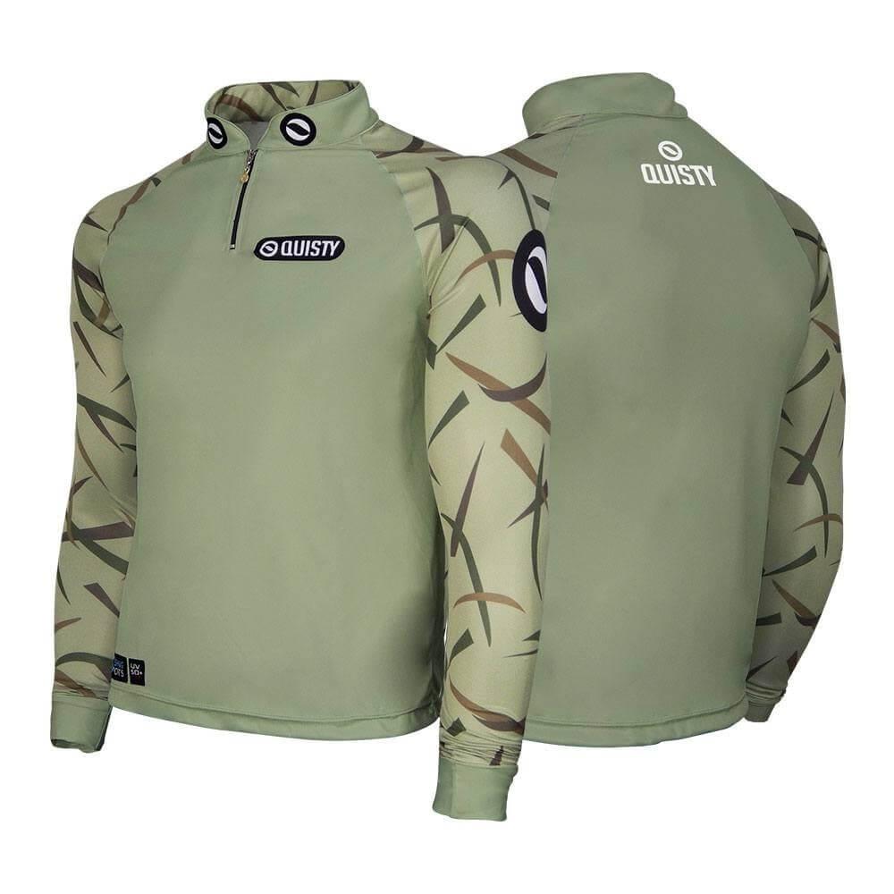 camisa de pesca manga longa Camisa Raglan Black Bass Kid Ocelos