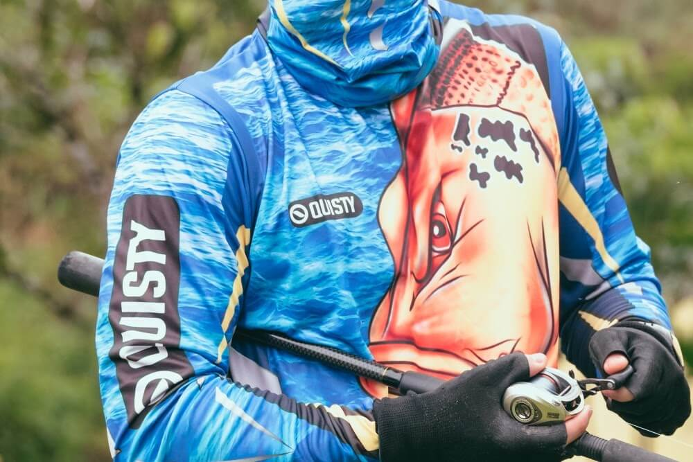 camisa de pesca manga longa