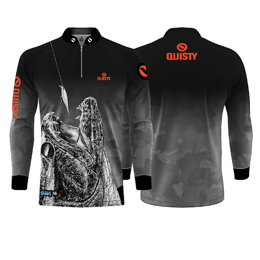 camisa de pesca traíra Raglan Premium Traíra Attack